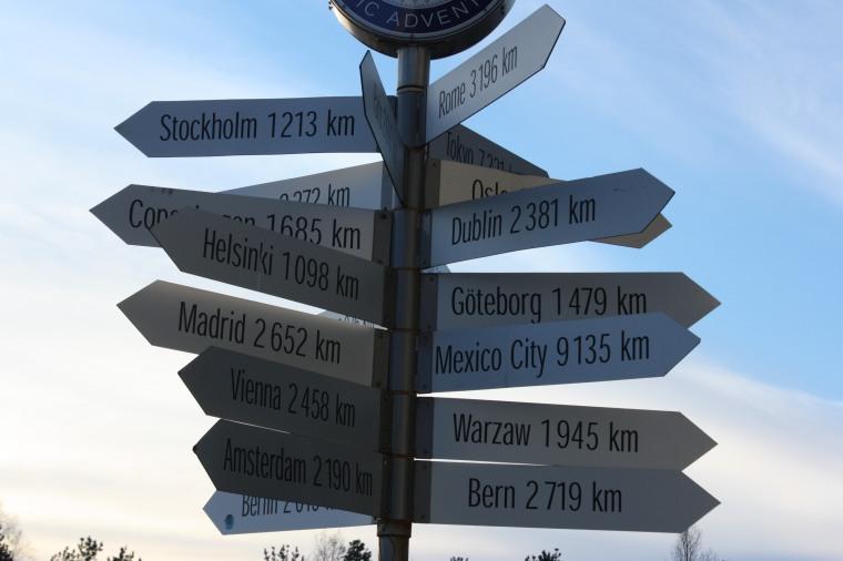 Det er lang til de fleste steder hvis man starter i Alta.