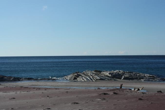 Den lilla sanden taler sitt tydelige språk om hvor vi er